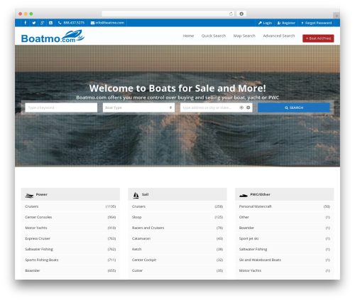 Pointfinder WordPress page template - boatmo.com