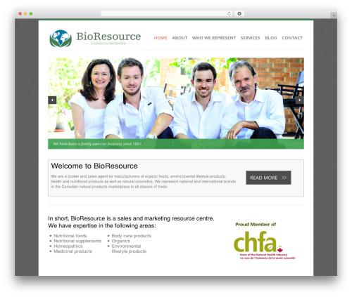 Revolution theme WordPress - bioresource.ca