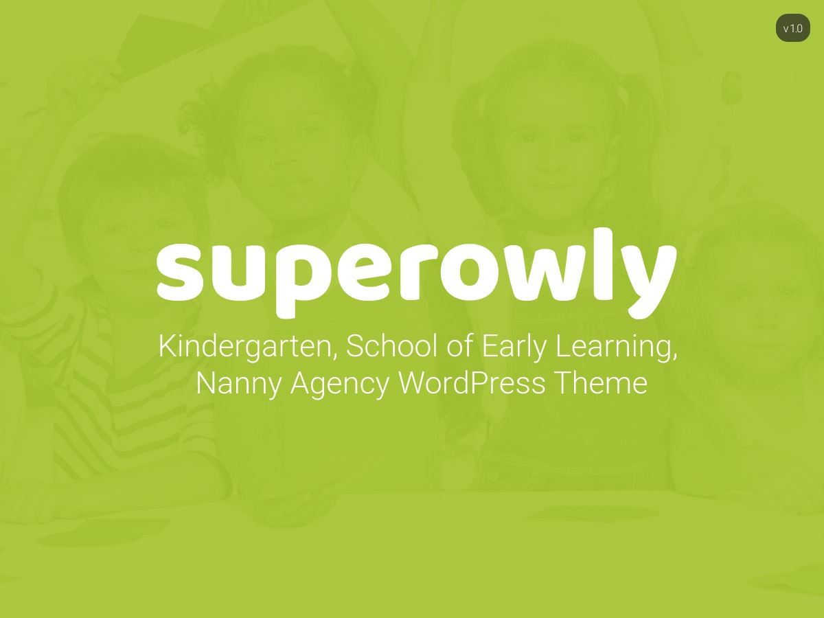 Theme WordPress SuperOwly - Kids WordPress Theme