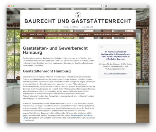 WordPress theme Responsive - baurecht-hamburg.net/hamburg-gaststaettenrecht