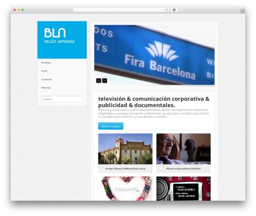 WordPress website template Minim - belenastorqui.es