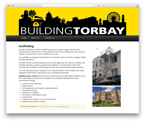 Akita WordPress theme - buildingtorbay.co.uk