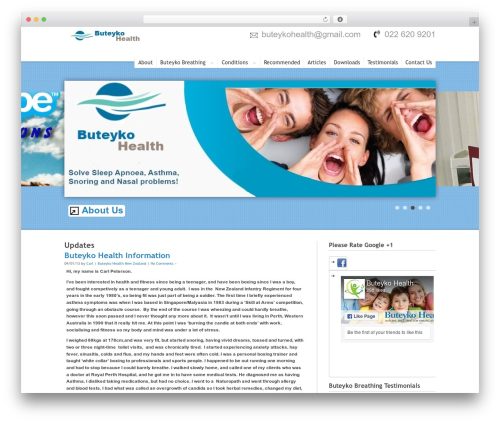 Best WordPress template Hyperion - buteykohealth.co.nz
