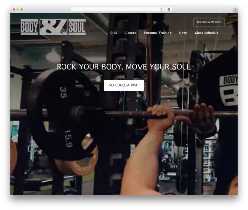 Body & Soul best WordPress template - bodyandsoulmiami.com