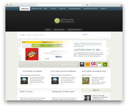 eNews best WordPress magazine theme - bachmann-leadership.de
