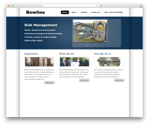 TekNium WordPress theme design - bowline.ie