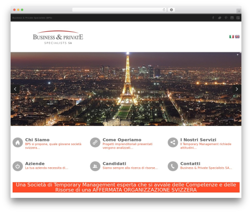 WordPress theme CleanSpace Business WP Theme - bpspecialists.com