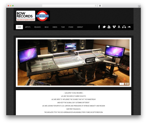 WordPress theme SoundWave - bowrecords.co.uk
