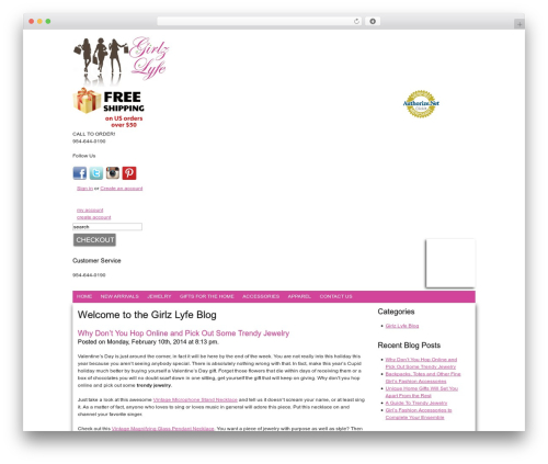 BB WordPress blog template - blog.girlzlyfe.com