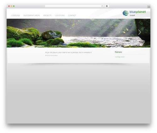 SUNNY ROCKET MediaHouse top WordPress theme - blueplanet.at