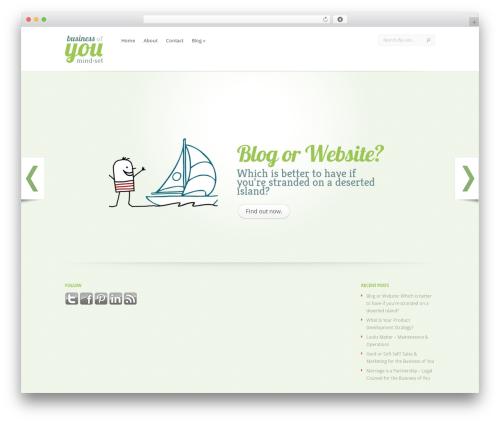 WordPress theme LeanBiz - businessofyoumindset.com