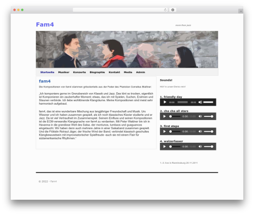 2010 Weaver premium WordPress theme - fam4.ch