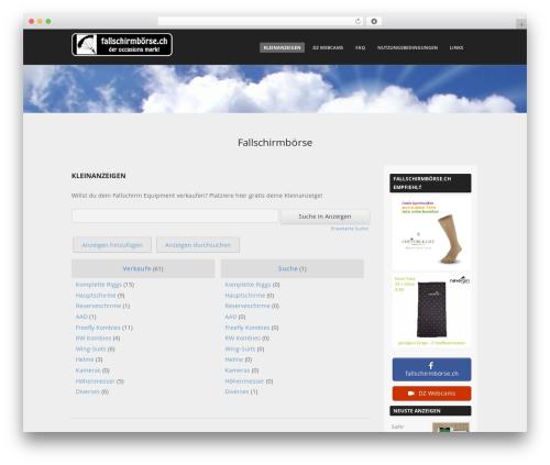 Adamos free WordPress theme - fallschirmboerse.ch