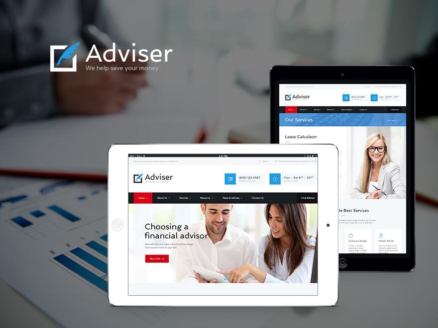 Adviser top WordPress theme
