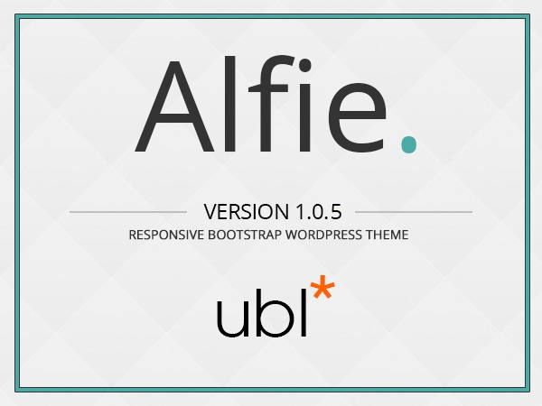 Alfie The Flat Bootstrap Wordpress Theme template WordPress