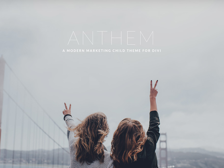 ANTHEM Child Theme for Divi WordPress theme