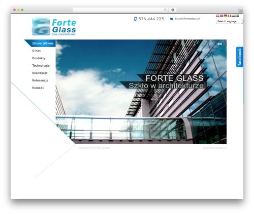 Architec theme WordPress - forteglass.pl
