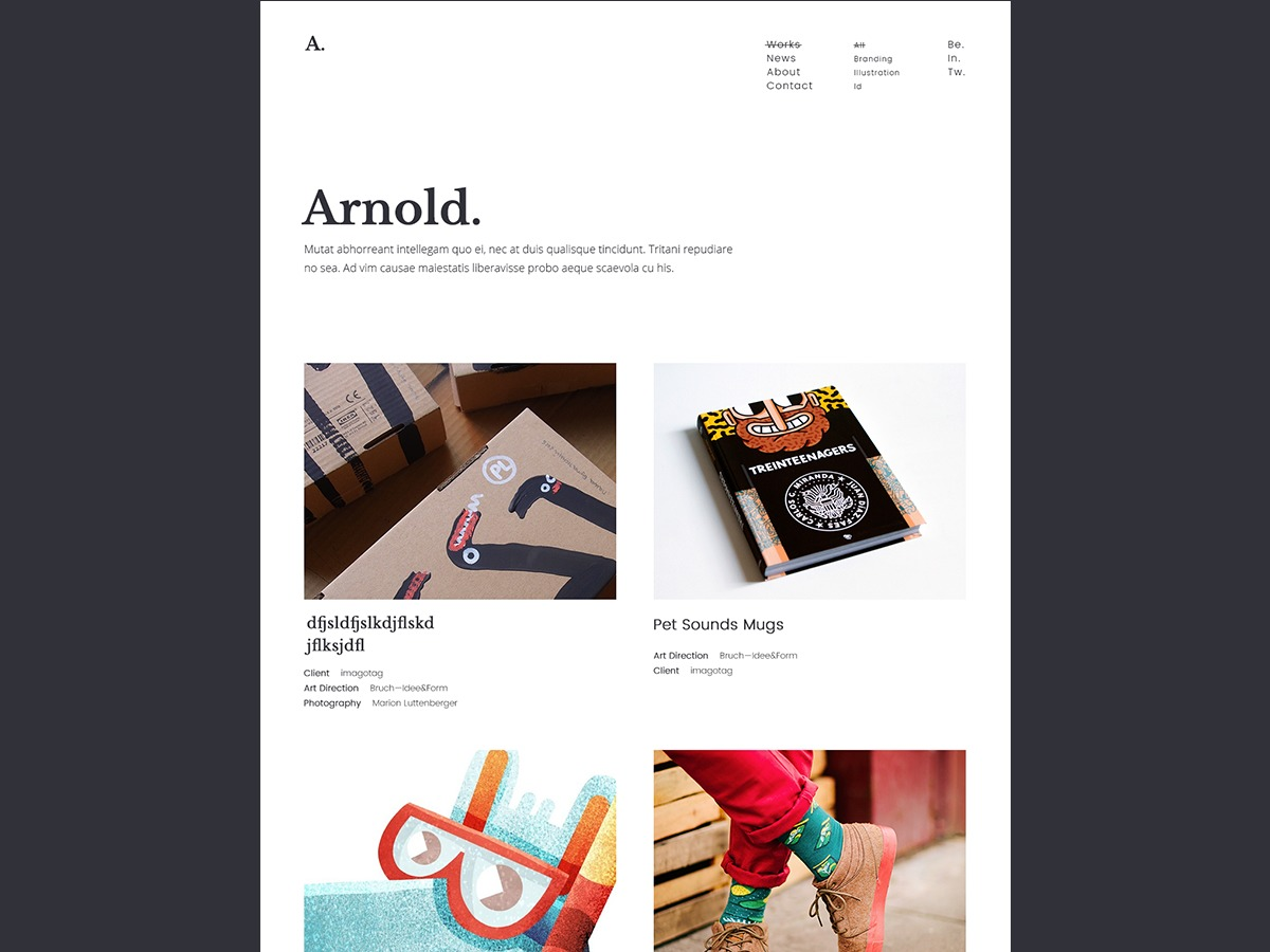 Arnold WordPress theme image