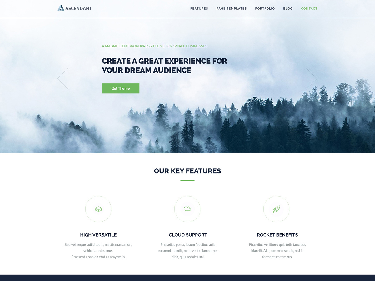Ascendant free website theme
