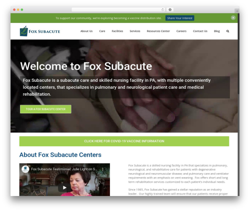 Avada WordPress theme - foxsubacute.com