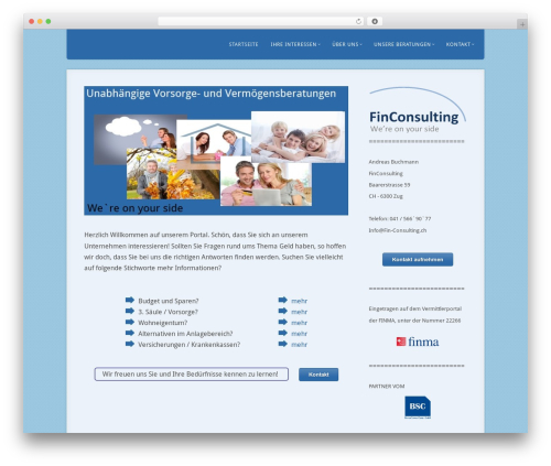 Best WordPress template Acoustic - fin-consulting.ch