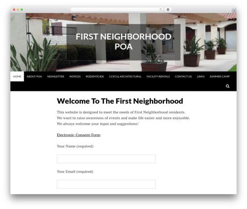 Best WordPress template Simone - firstneighborhood.org