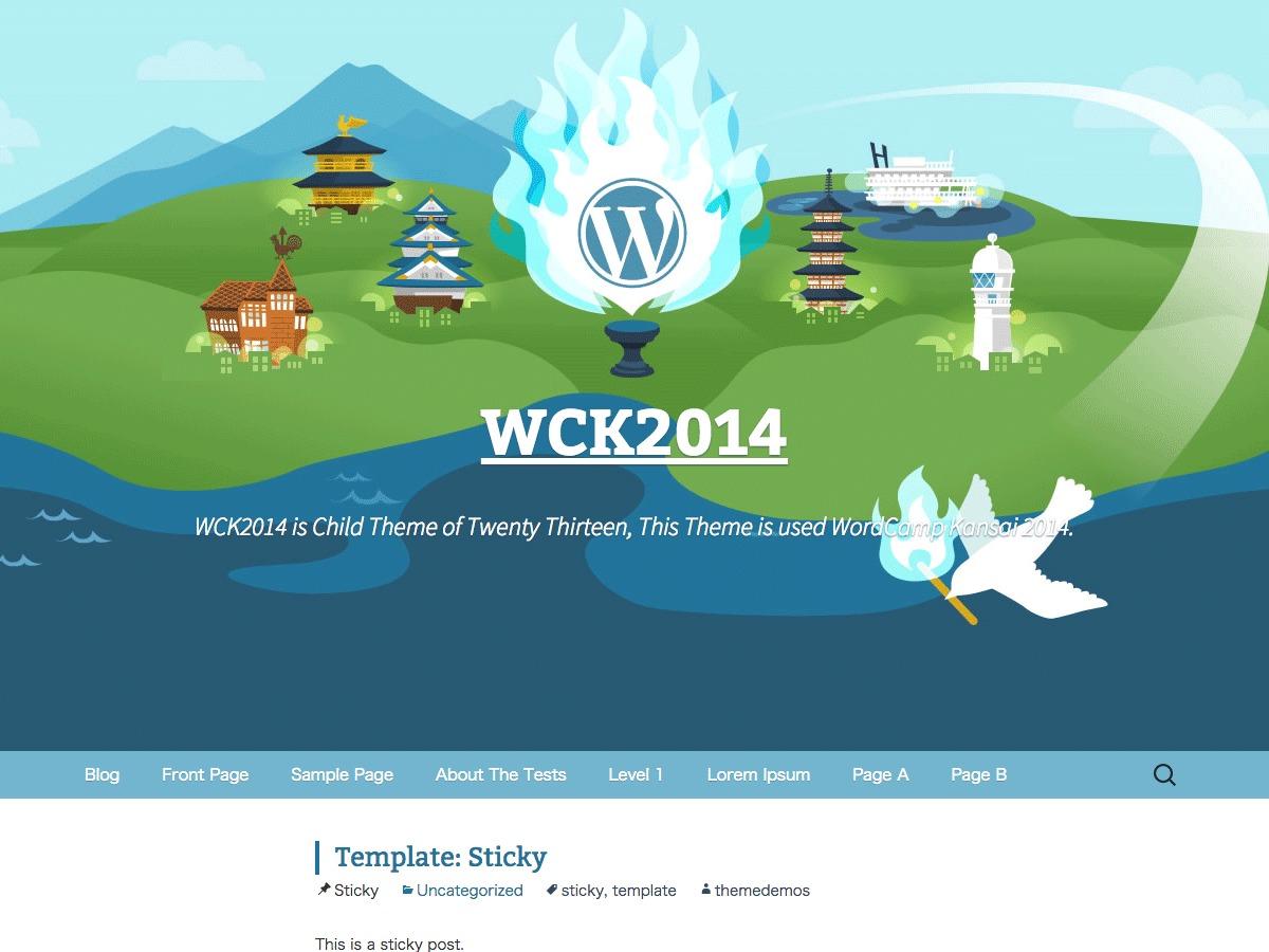Best WordPress template WCK2014