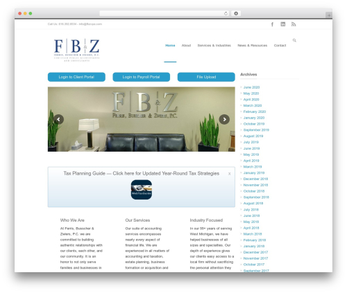 Best WordPress theme INOVADO - fbzcpa.com
