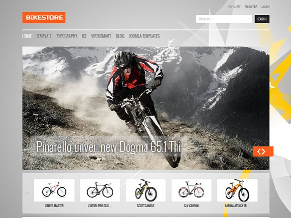 BikeStore WordPress shop theme