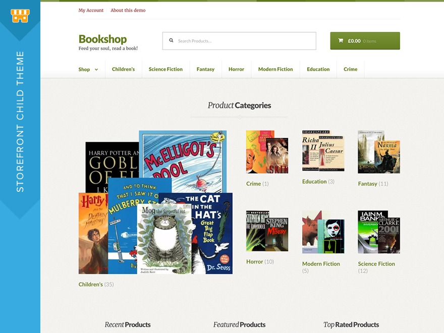 Bookshop best WooCommerce theme
