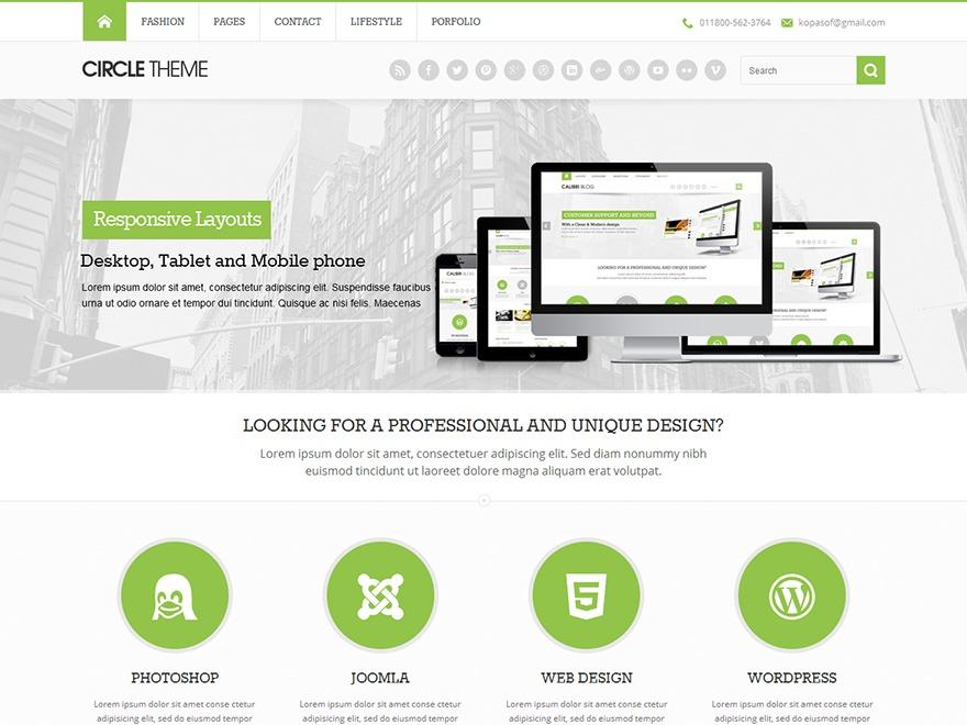 Circle theme WordPress magazine theme