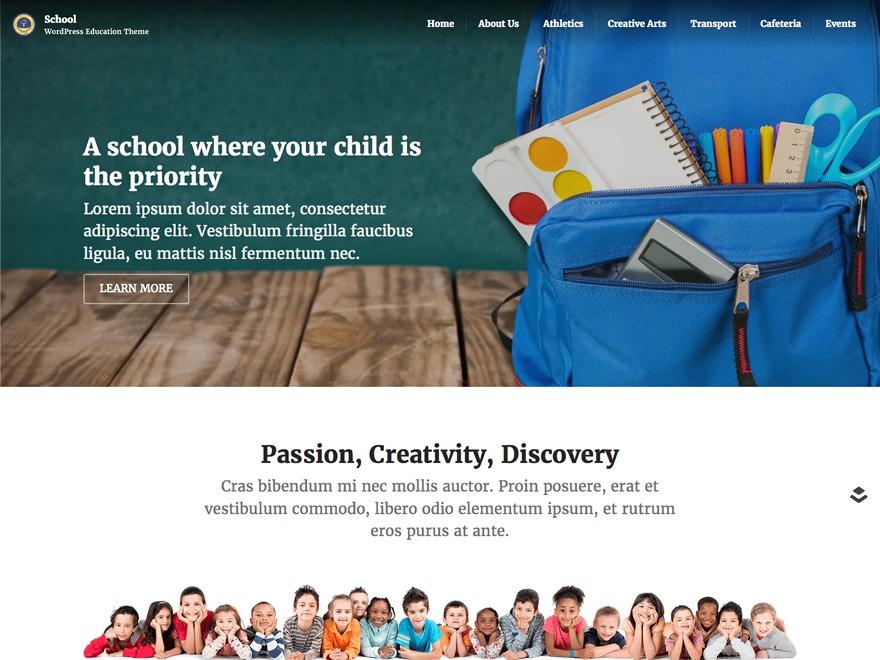 Classroom template WordPress