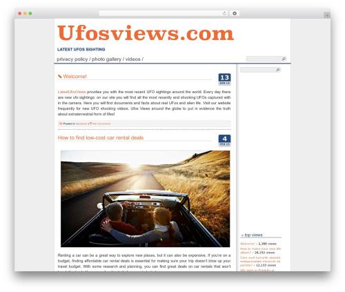 Cleanfrog best WordPress template - ufosviews.com