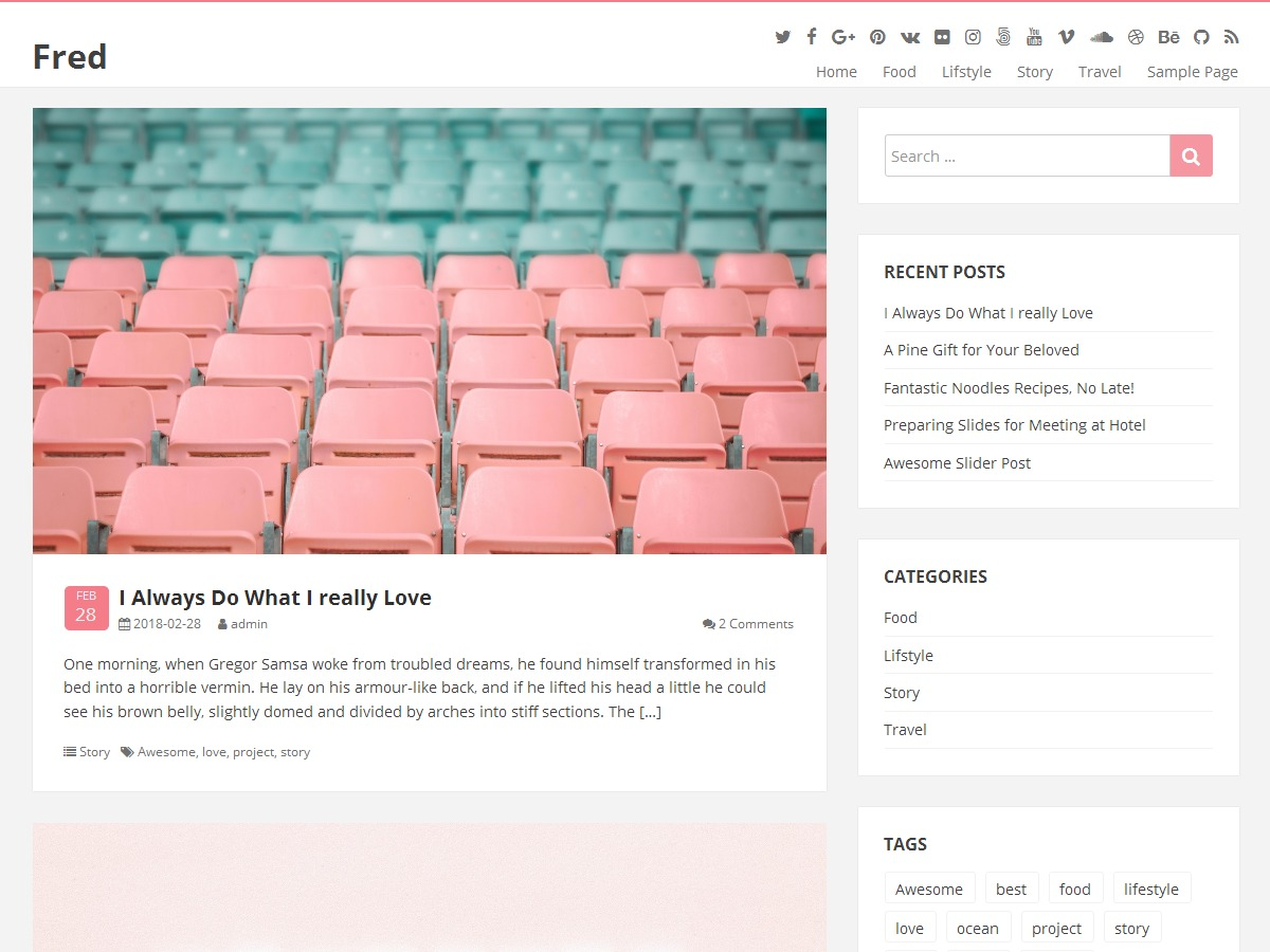 Fred WordPress theme free download