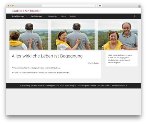 GeneratePress WordPress theme - fleischner.at