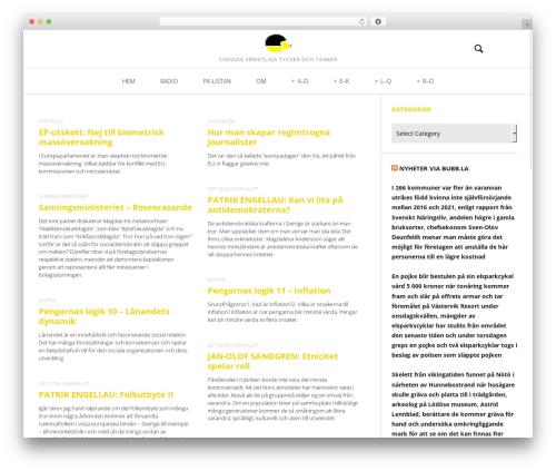 Heap WordPress theme - frihetligt.se