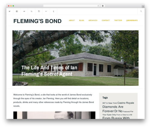 Ixion WordPress theme - flemingsbond.com