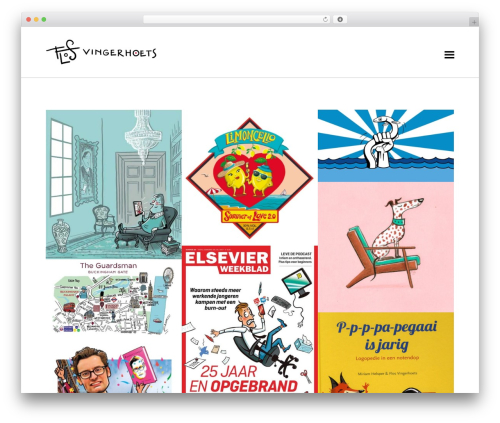 Koncept WordPress gallery theme - flosimage.com