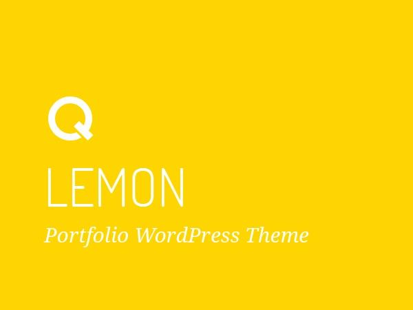Lemon - Responsive Portfolio Wordpress Theme personal WordPress theme