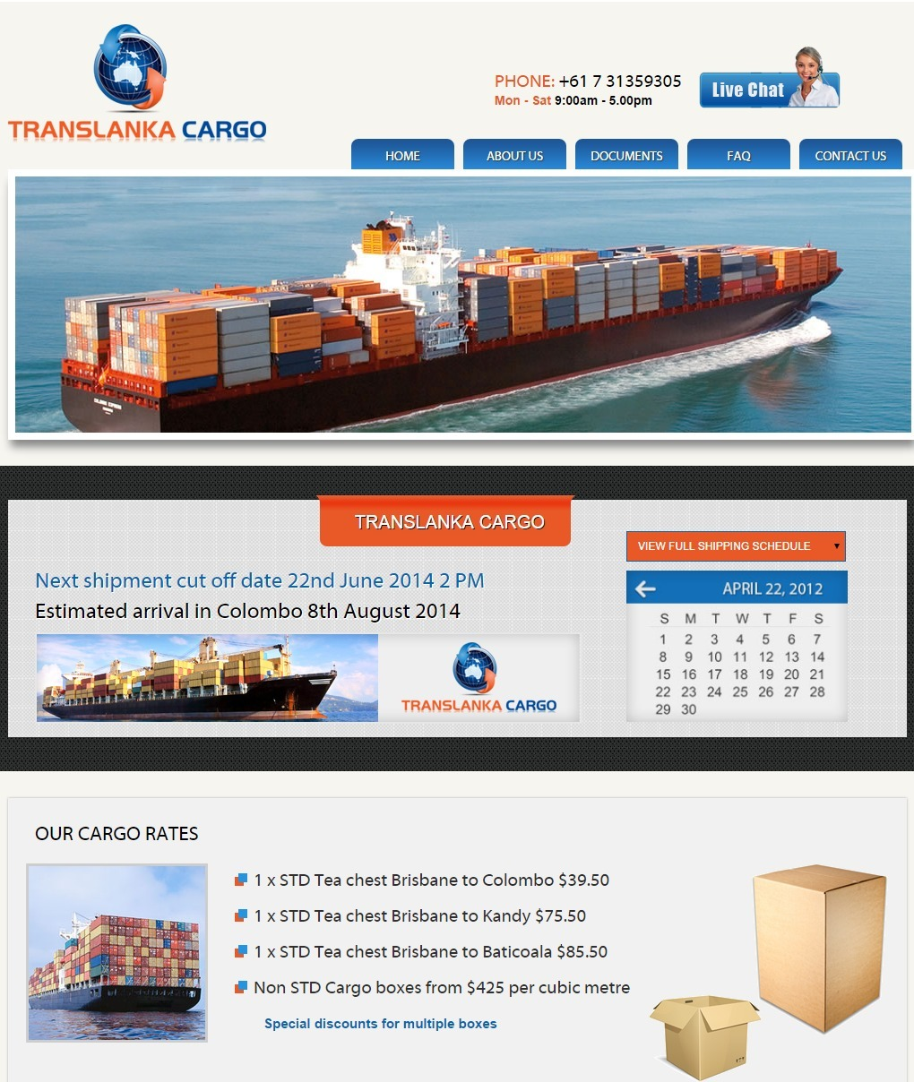 logiscargo WordPress template for business