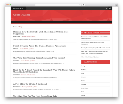 News Mix Light top WordPress theme - usersrating.com