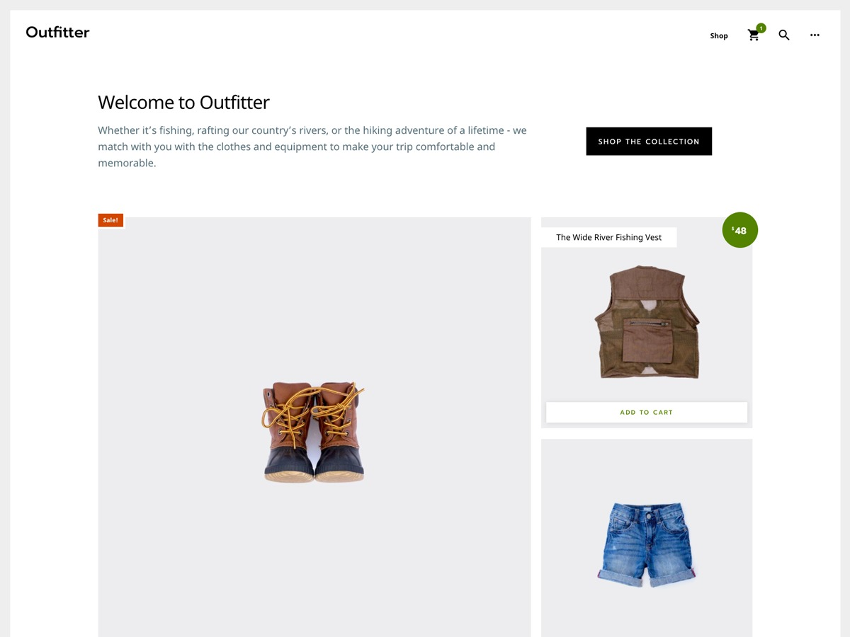 Outfitter Pro WordPress shopping theme