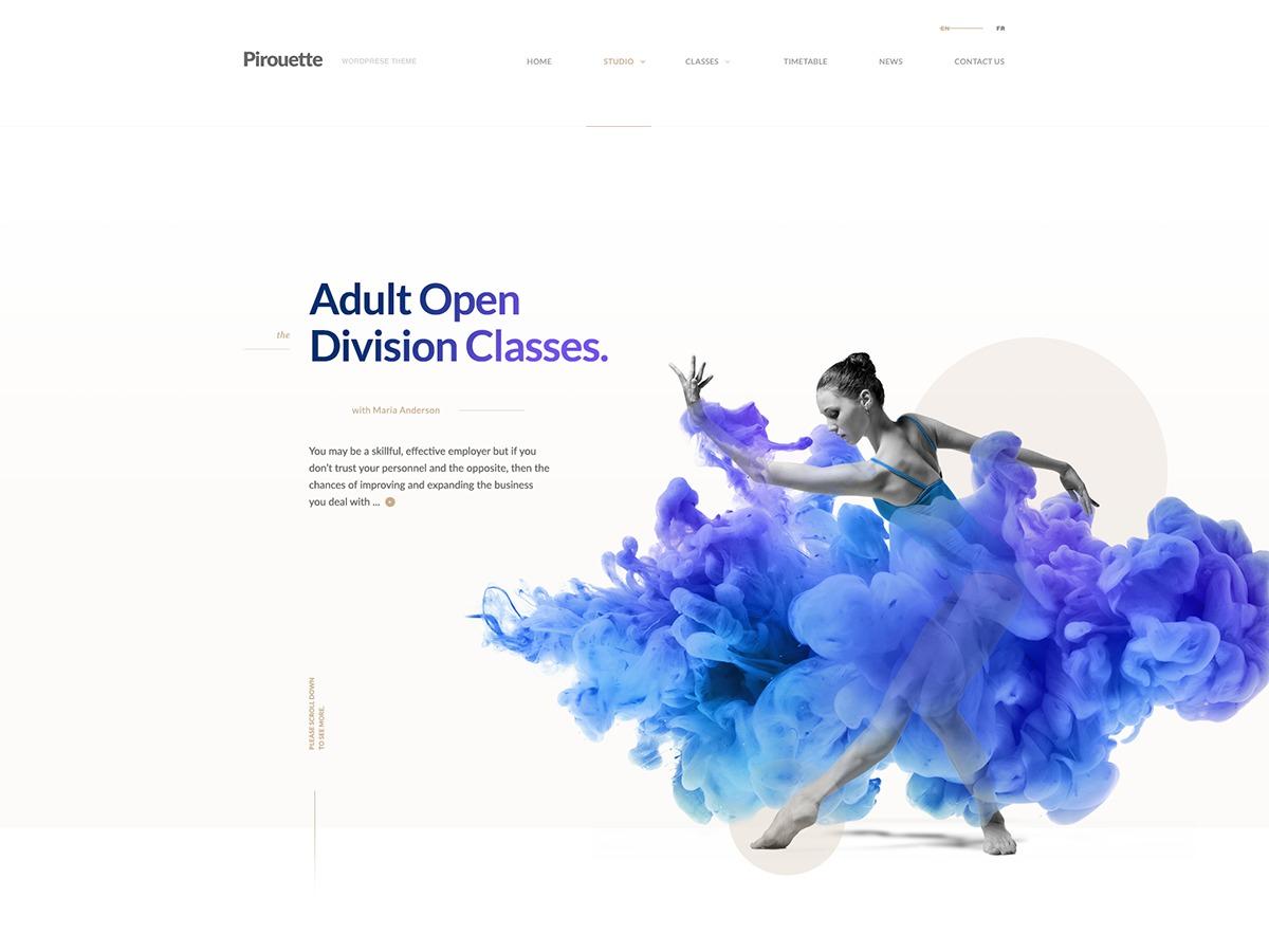 Pirouette company WordPress theme