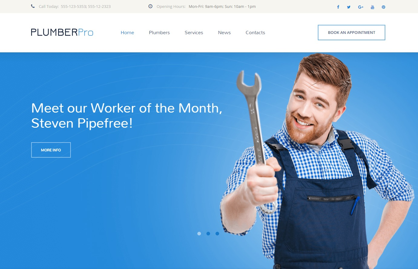 Plumberpro WordPress theme