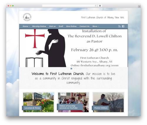 Risen theme WordPress - firstlutheranalbany.org