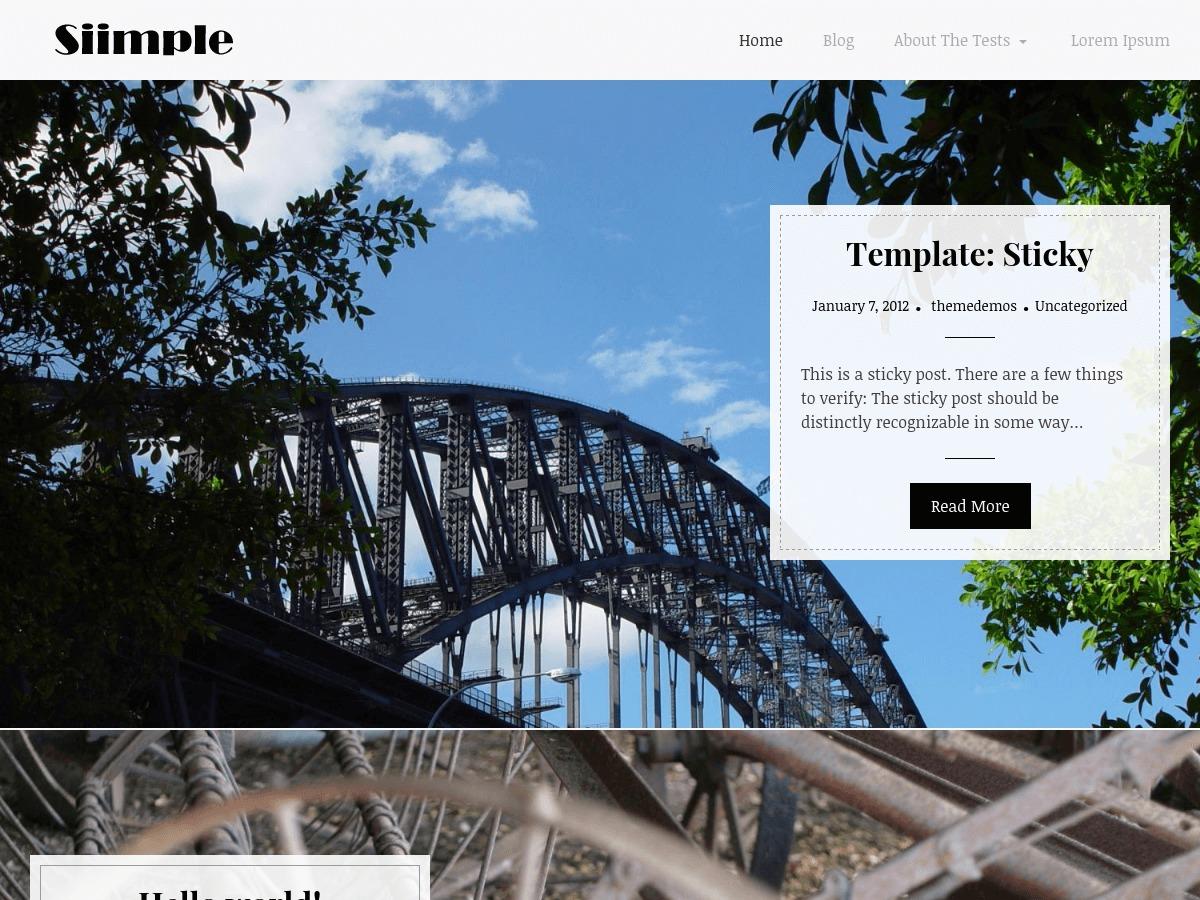Siimple best free WordPress theme