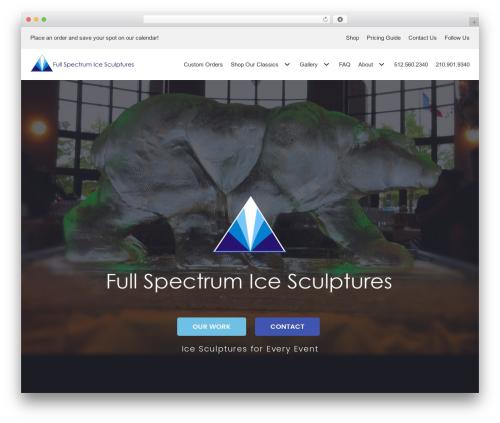 Template WordPress neve - fullspectrumice.com