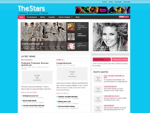 The Stars WordPress news template