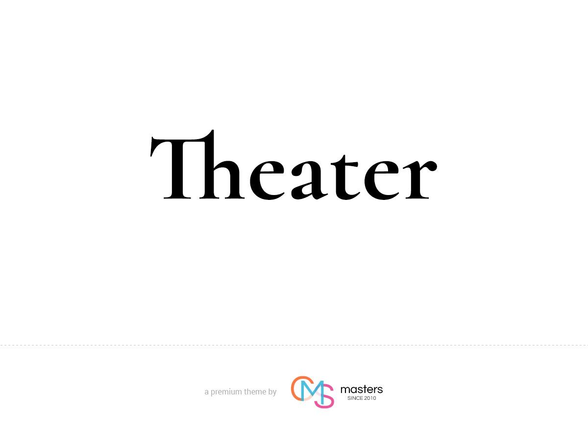 Theater WordPress portfolio theme