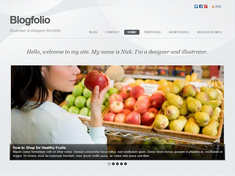Themify Blogfolio WordPress blog template